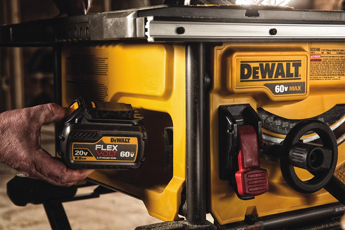 DeWalt FLEXVOLT 60V MAX Cordless Table Saw Battery
