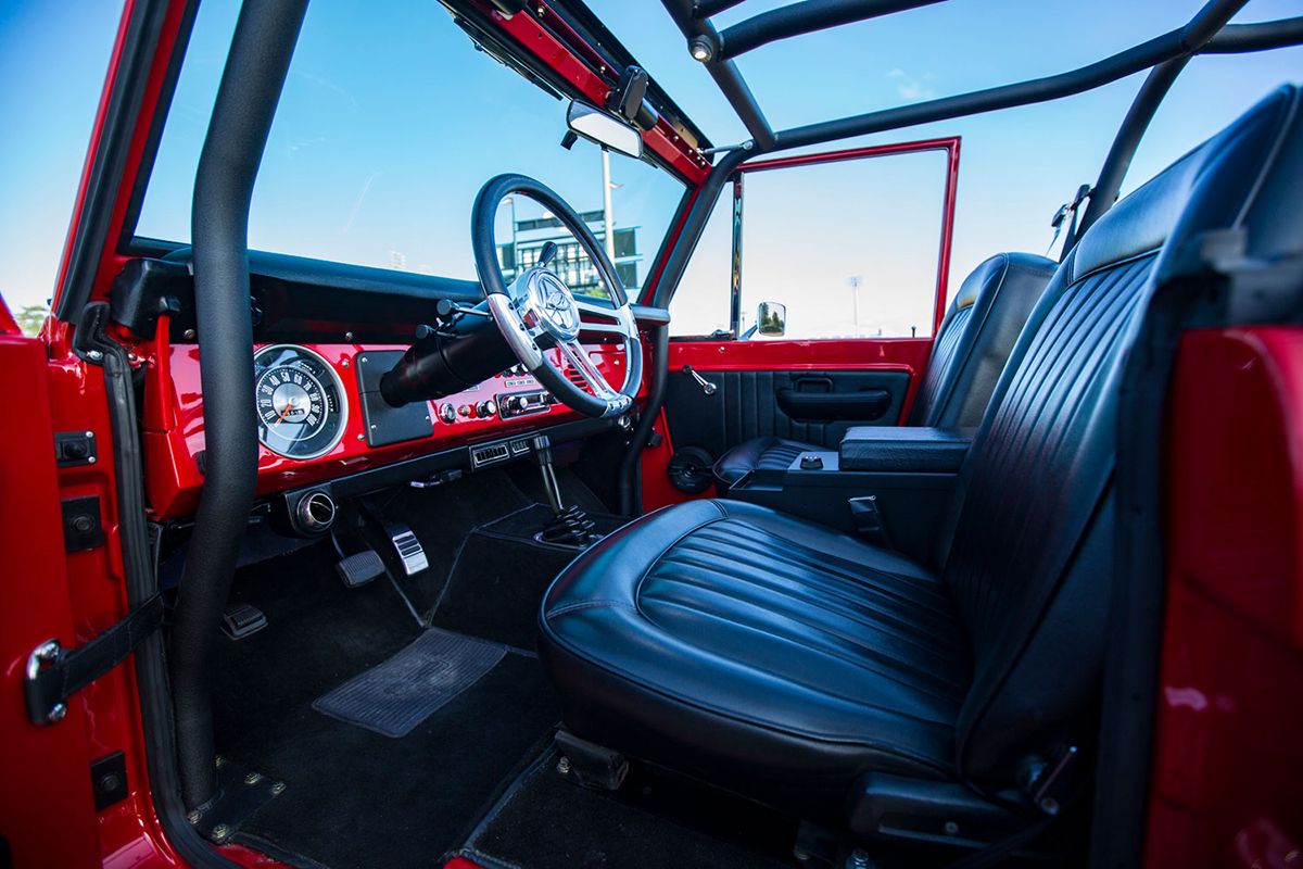 Supercharged 1975 Ford Bronco Interior