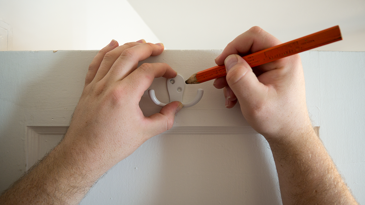 How To Install Hollow Wall Anchors Measure And Mark